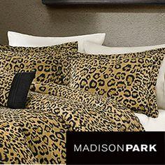 Madison Park Leopard Print 4 Piece Duvet Cover Set