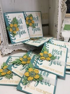 handmade card ... just for you with botanical blooms ... great combo ... Stampin' Up!