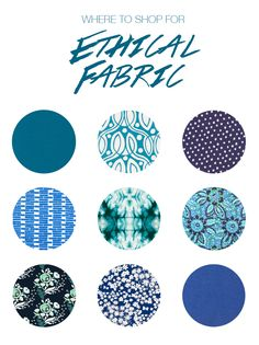 Ethical Fabric | Where to Find Organic, Fair Trade, and Sustainable Fabric Online | Birds of a Thread