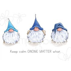 GNOMES have FEELINGS TOO rubber stamps