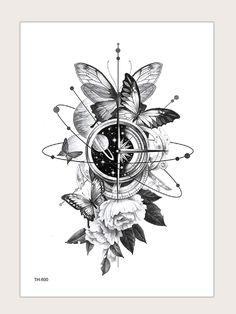 One Line Tattoo, Line Art Tattoos, Bff Tattoos, Spine Tattoos, Cute Tattoos, Beautiful Tattoos, Body Art Tattoos, Sleeve Tattoos, Butterfly With Flowers Tattoo