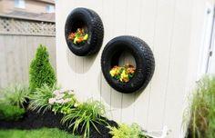 reutilizar pneus velhos no jardim 5