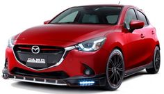 Mazda 2 and CX-3 fitted with DAMD body kits in Japan