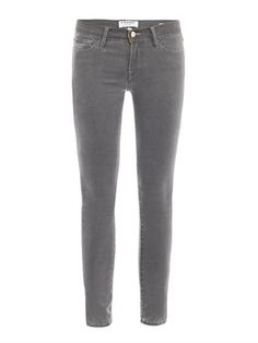 Le Luxe Noir mid-rise skinny jeans | Frame Denim | MATCHESFASH...