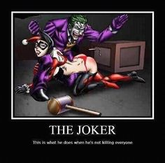 What joker does when he's not doing crime