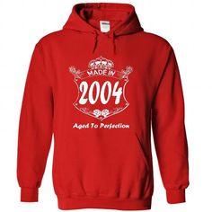Made In 2004 Age To Perfection - T shirt, Hoodie, Hoodies, Year, Birthday #sunfrogshirt #year