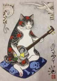 Resultado de imagen para shamisen gato