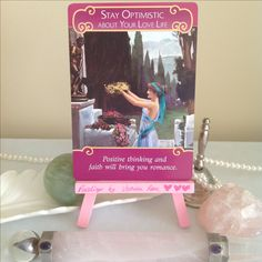 💗 Today's theme: Stay optimistic about your love life (or anything you really want for your life that you feel won't happen). From #TheRomanceAngelsOracleCards by #DoreenVirtue. #Blessings for a 'dreams coming true' kind of day for you, beautiful soul. 💗 #oracle #oraclecards #love