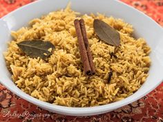 Rice cooker directions -Indian Savory Yellow Rice   | Andrea MeyersAndrea Meyers