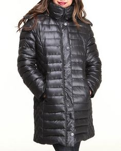 Buy Long Shiny Hooded Down Coat Women's Outerwear from Kenneth Cole. Find Kenneth Cole fashions & more at DrJays.com