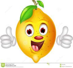 Os Desenhos Animados Do Limão Manuseiam Acima Fotos de Stock - Imagem: 32616363