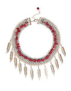 SuiteBlanco- Collar hilo plumas