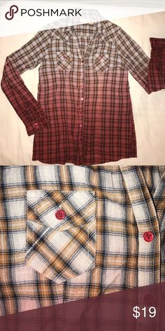 daytrip plaid shirt Gently worn - excellent condition. Sweet red buttons. Arms fold up and button at elbow or wear long. Two front pockets. 💯% cotton. One of my favorites! Daytrip Tops Button Down Shirts