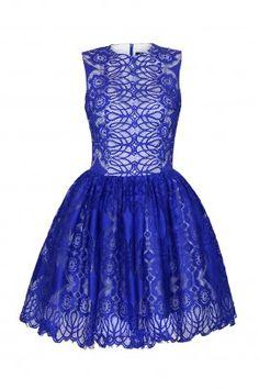 Sukienka z koronki MARGOT kobaltowa