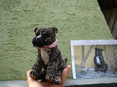 háčkovaný pes Enny