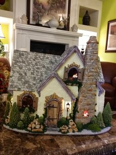 The Cottage is Finished! I think it turned out really nice. I went to the dollar store the other day and they had their Christmas stuf.