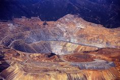 ~ Kennecott Copper Mine ~ in Salt Lake County, Utah....The largest open-pit mine of the world and second largest copper producer of the U.S....