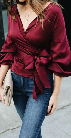 I wanna know burgundy satin wrap top Short Outfits, Fall Outfits, Summer Outfits, Fashion Outfits, Womens Fashion, Fashion Trends, Diy Outfits, Trendy Outfits, Latest Fashion