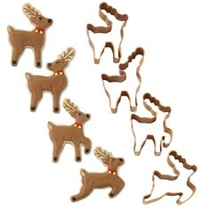 Wilton® 4-Pc. Christmas Small Reindeer Metal Cookie Cutter Set