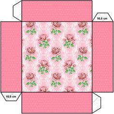 Convite Caixa Tampa Floral Rosa Provençal:
