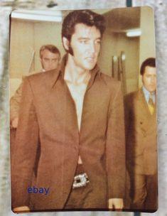 Vintage Elvis Presley Candid Photo - Brown Suit - Perfect Hair