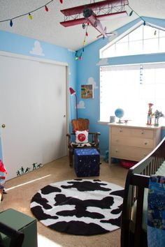 Toy Story Nursery with Woody-inspired Rocker and Rug