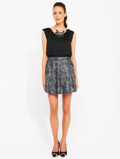 Chanel - This A-Line Boucle Skirt is from Portmans Short Skirts, Boho Shorts, Chanel, Inspired, Leather, Stuff To Buy, Clothes, Shopping, Fashion