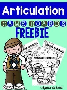 This freebie is a sample of my Articulation Game Boards series! These print and go game boards are designed to be used in articulation therapy, but can also be used to reinforce beginning and ending sounds! #Speech #SLP #BeginningSounds | by Speech Is Sweet