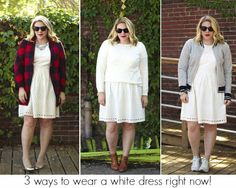 Chasing Davies: 3 ways to wear a white dress right now