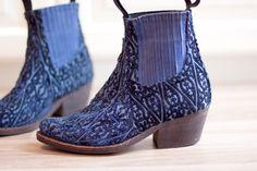 Jeffrey Campbell - Blue Velvet Cowboy Boots