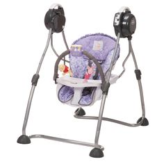 This whimsical purple Winnie the Pooh all-in-one swing engages your little hunny for hours of giggling fun and sweet sleep. It includes five songs and an adjustable soft toy bar with Pooh and Piglet to keep Baby entertained. Winnie The Pooh Nursery, Winne The Pooh, Disney Winnie The Pooh, Baby Disney, Sims, Reborn Toddler Dolls, Baby Equipment, Baby Bouncer, Purple Baby
