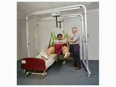 Liko Ultra Twin - Bariatric Gantry Hoist. Available in the UK via Dolphin Lifts.