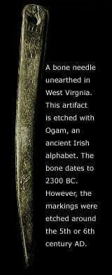 Bone needle  WV, Irish