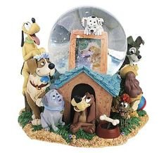 Disneys Dogs Large Musical Snow Globe New In The Box