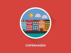 Copenhagen flat design by Ema Rogobete