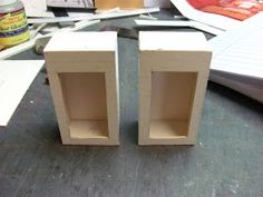 Dollhouse Miniature Furniture - Tutorials | 1 inch minis: PART SIX, KITCHEN CABINETS MADE FROM MAT BOARD