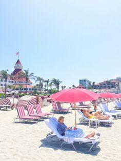 The Beach at Hotel Del Coronado in San Diego