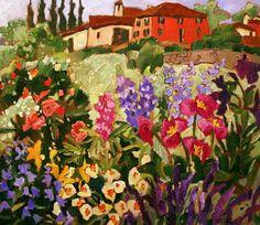 claude simard paintings | La casa Rossa / Claude A. Simard R.C.A.