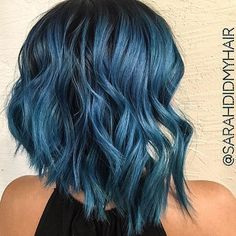 Joico color intensity Blue Steel by @sarahdidmyhair loving this smokey blue hue!