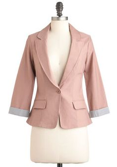 Mauve Up the Ladder Blazer  Perfect for back to school :)