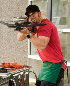 """Chris Evans as Jensen in """"The Losers"""" """"That's right bitches...I got a crossbow!"""" <3"""