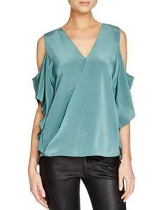 043f931fdf9f8 Bailey 44 Azalea Silk Cold Shoulder Top Women - Tops - Bloomingdale s