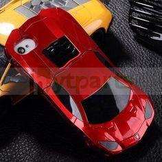 3D Fancy Sports Race Car Hard Case for iPhone 4S 4