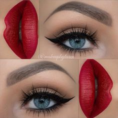 Loving this classic makeup by used her Sedona Lace brushes to help with her (red lipstick makeup) Pretty Makeup, Love Makeup, Makeup Inspo, Makeup Inspiration, Beauty Makeup, Makeup Looks, Makeup Ideas, Gorgeous Makeup, Makeup Geek