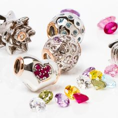 Delectable #gemstone charms! The perfect way to mark special #Milestones...