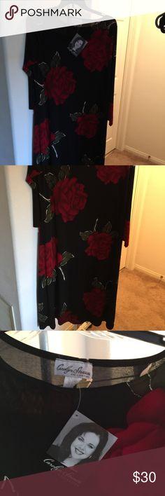 SPANDEX SLINKY DRESS VERY COMFORTABLE DRESS AND IT IS VERY FIGURE FLATTERING CAROLYN STRAUSS Dresses Midi