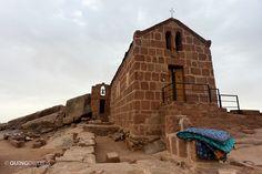 A Greek Orthodox Church on Mt. Sinai   Read full article: http://www.quingdom.com/2011/10/26/climbing-mt-sinai/