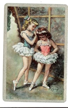 two ballerina dancers girls