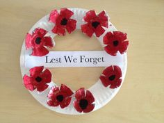 ANZAC day wreath - poppies made from egg cartons and the wreath made for a paper plate. cheap and easy to make and lots of fun for the kids! ANZAC day wreath - poppies made from egg cartons and the wreath made for a paper plate Remembrance Day Activities, Remembrance Day Poppy, Toddler Crafts, Preschool Crafts, Crafts For Kids, Craft Activities, Toddler Activities, Wreath Crafts, Flower Crafts