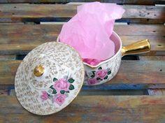 Pot porcelain vintage skillet real porcelain made by VintageSyell